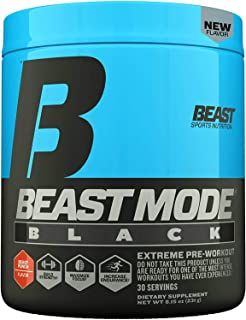 Beast Sports Nutrition – Beast Mode Black – Ultimate Workout Supplement – High Energy Production – Maximizes Strength & Mu...