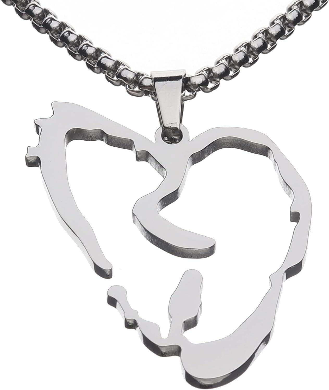Heart Broken Rapper Hip Hop Pendant Chain Necklace