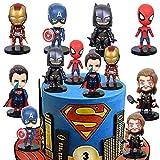 SUNSK Decoración De Pastel De Superhéroes Cake Topper Superhero Decoración de pastel de cumpleaños de Avengers para Cumpleaños Decoración de La Torta del fiesta suministros 6 Piezas