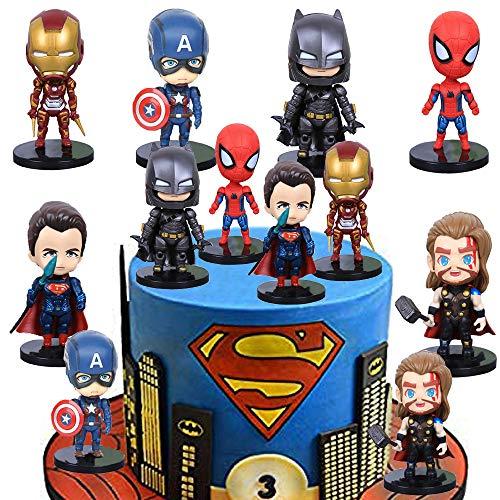 SUNSK Tortendeko für Superhero Geburtstags Dekoration Avengers Kuchenaufsätze Kinder Geburtstagstorte Dekoration Cartoons Kuchen Topper Party Dekoration 6 Stück