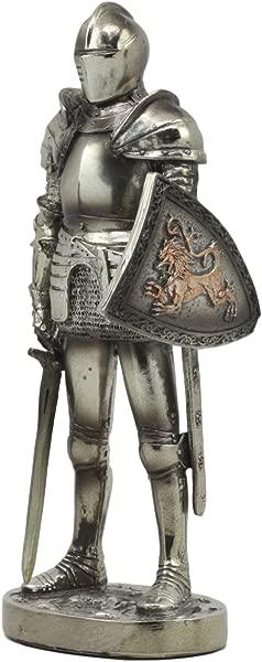 Ebros Medieval Suit Of Armor Statue 7 Tall Valiant Swordsman Brave Lionheart Knight Figurine