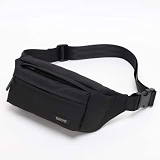 TINYAT Fanny Pack with 4 Zipper Pockets for Men