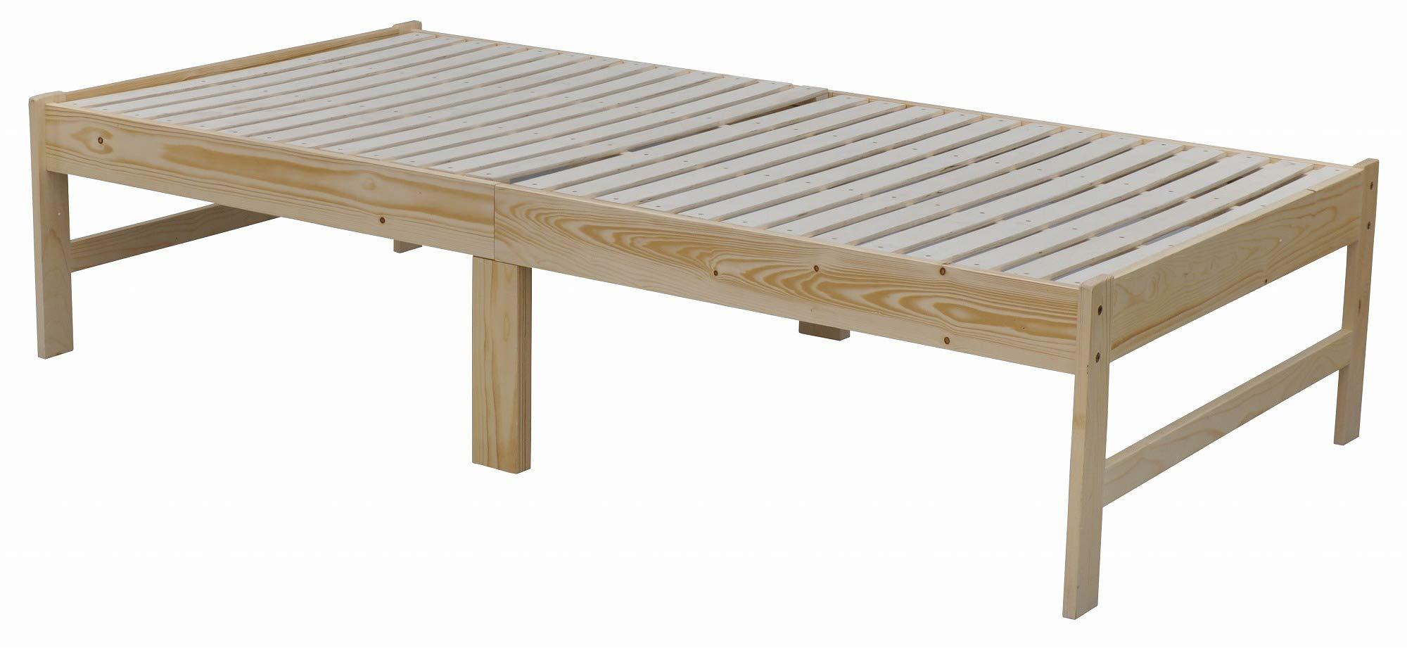 エイ・アイ・エス (AIS) ベッドフレーム ナチュラル 200x102x46cm 布団も使える木製ベッド SKBD-001 NA