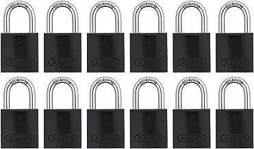 ABUS 72/40 铝制*锁 黑色钥匙扣 - 12 个装