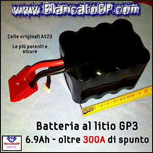Batería de litio compacta y ultraligera para moto scooter Racing pista A123 LiFePO4 (GP3-6,9 Ah).