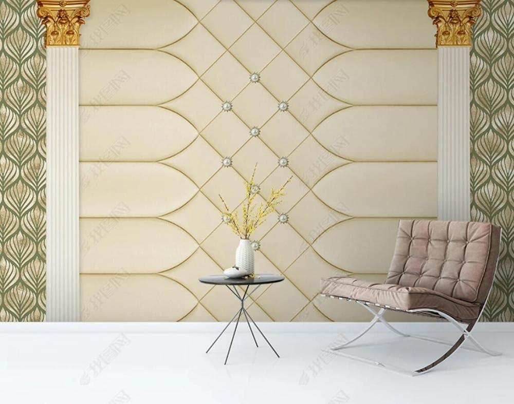 Wallpaper 3D Effect Roman Max 60% OFF Column Soft Bag Pearl Custom 5% OFF