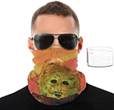 LisaCrocker Neck Gaiter Balaclava Scarf Ty Segall Melted Quick-Drying Bandanas for Motorcycle with 2 Filter