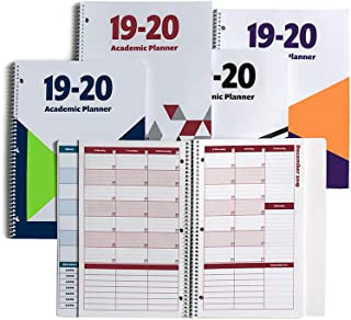 2019-2020 Academic Planner, A Tool for Time Management, Daily, Weekly & Monthly School Agenda for Keeping Students On Track & On Time, (July 2019-June 2020), Size 8.5x11, White