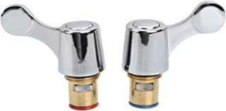 Yizhet Quarter Turn Tap Valves/Cartridges with METAL Lever Heads 1/2