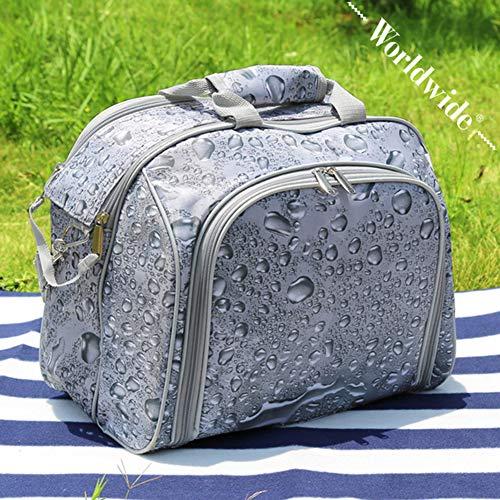 Zhiyi Picknicktasche Mit Großem Fassungsvermögen, Hochwertige Anti-Spritz-Wasser-Tropf-Tuch-Isolierung, Frisch Haltbares Outdoor-Camping-Isolationspaket Mit Großem Fassungsvermögen 38X30X20