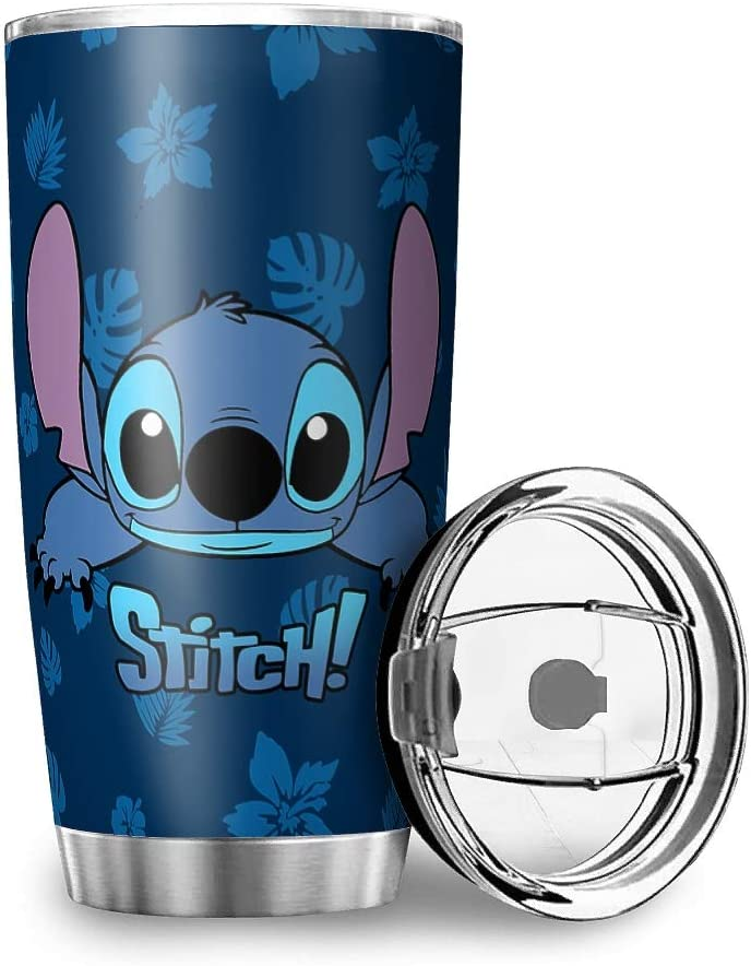 Trend Movie Stitch Full Printing Tumbler Stainless Steel Stitch Funny Stitch Stitch Coffee Glitter 20oz 30oz Stitch