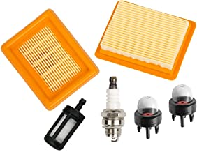 HIFROM Air Filter Cleaner with Spark Plug Fuel Filter Primer Blub for STIHL FS120 FS200 FS250 FS300 FS350 FS400 FS450 String Trimmer Brush Cutter Replace # 4134 141 0300