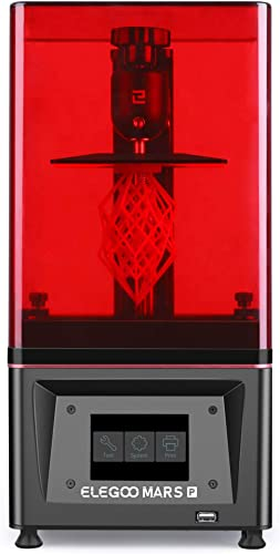 ELEGOO Mars Pro MSLA 3D Printer UV Photocuring LCD 3D Printer with Matrix UV LED Light Source, Built-in Activated Car...