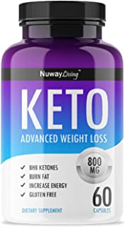 QFL Nuway Living Keto Diet Pills - Utilize Fat for Energy with Ketosis - Boost Energy & Focus, Manage Cravings, Support Metabolism - Keto BHB Supplement for Women and Men - 30 Day Supply