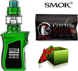 (綿は贈り物です)【SMOK正規品】SMOK MAG Baby Kit 電子タバコ 50W TC 本体 4.5ml TFV12 Baby Prince Tank プリンス アトマイザー Vape スターターキット 爆煙 (Green Black) + Wick 'N' Vape製品 Cotton bacon