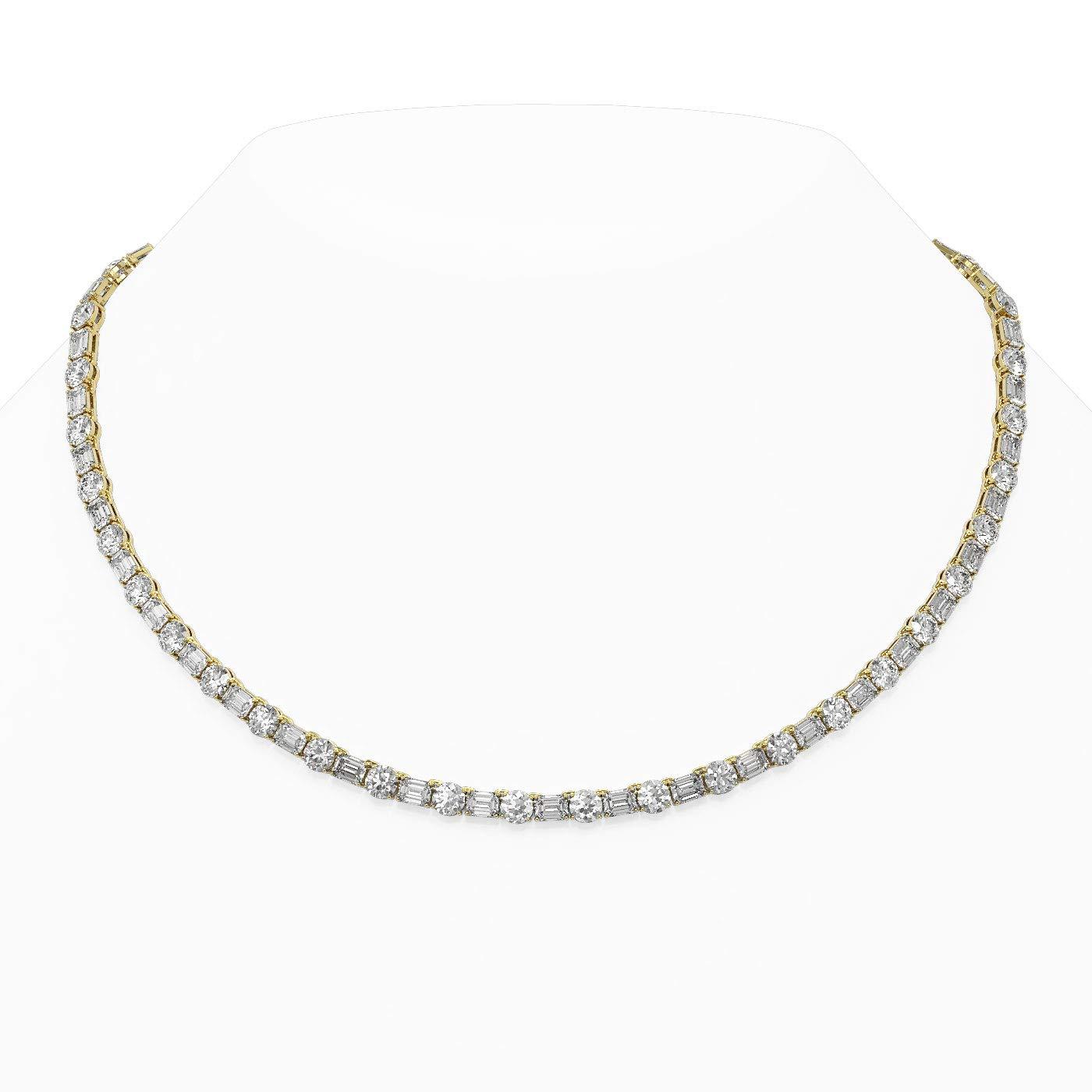 37 ctw Super intense SALE Emerald Cut Necklace 18K Diamond Designer specialty shop