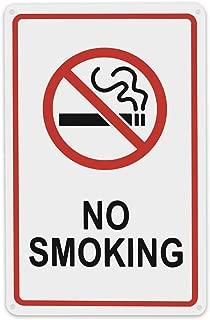 No Smoking Sign,Indoor and Outdoor Use,Rectangle Wall Mount Acrylic Non-Smoking Sign, UV Printed-SupperAcrylic