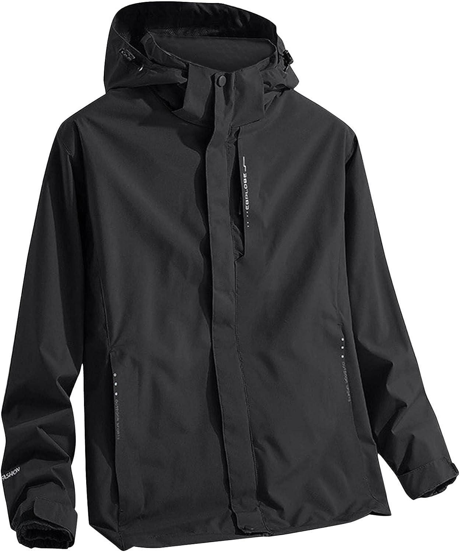 Full Zip Shell Windbreaker Detachable Liner Two-piece Hooded Jacket Waterproof Heavyweight Coat Plus Size Outerwear