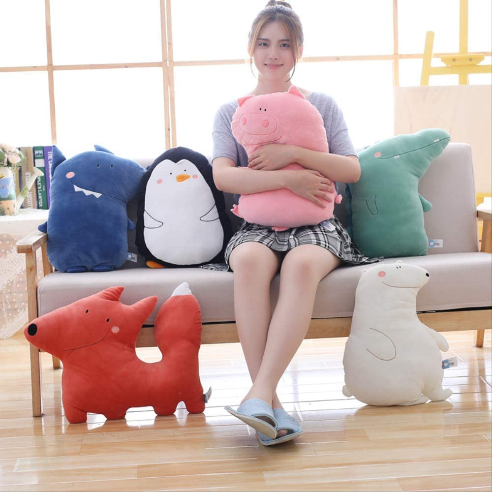 Diverse Forest Animal Doll Plush Knuffel Room Decor Soft Sofa Chair Kussen Verjaardagscadeau witte Beer Wolf