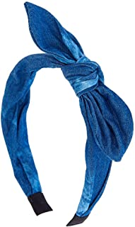 Claire's Girl's Denim Knotted Bow Headband