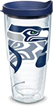 Tervis 1290796 NFL Seattle Seahawks Tumbler With Lid, 24 oz, Clear