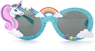 Ocean Line Unicorn Sunglasses – Party Favors, Novelty Shades, Party Toys, Funny Costume Glasses Accessories for Kids & Adults (Blue)