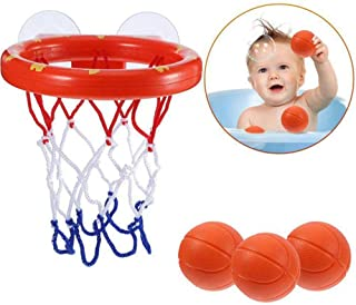 Bath Basketball Hoop for Kids - Hamkaw Bath Toys Mini Basketball Hoop with 3 Balls - Fun Game Playset Gift Set for Boy Girl BabyToddler