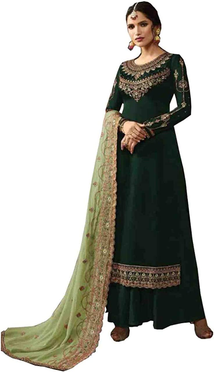 Heavy Embroidery Worked Indian Designer Ready to Wear Salwar Kameez Plazzo Sharara Suits