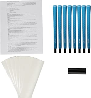 Majek Ladies Tour Pro Turquoise Undersize Golf Grips and Grip Kit (8 grips, grip tape, clamp, instructions)