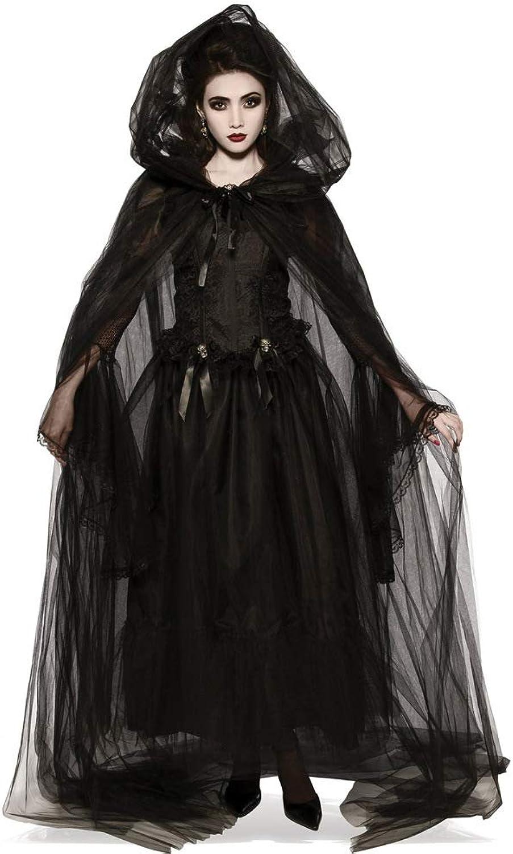 más orden ZMDHL Disfraz Disfraz Disfraz de Halloween Mujer, Misteriosa Bruja Capa Vampiro CosJugar Ropa de Mujer,L  más descuento