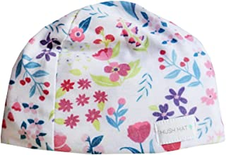 HUSH Hat by HUSH Baby - Sound Absorbing Lightweight Baby Hat - Fits Newborns to Toddlers Aged 2 Purple Poppy 小号