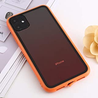 For iPhone 11 shockproof Imitation Glass Gradient Color TPU + Acrylic Case New (Red) Hopezs (Color : Orange)