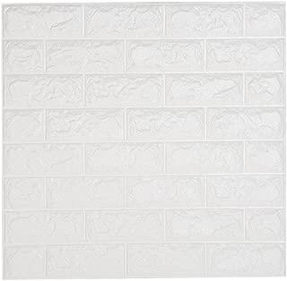 NHsunray 3D Ladrillo Pegatina Pared Autoadhesivo Panel Pared Impermeable, 3D DIY Wall Stickers Moderno Decoración para Cuarto de Baño, Sala de Estar y Cocina, 60x60cm (20 pcs)