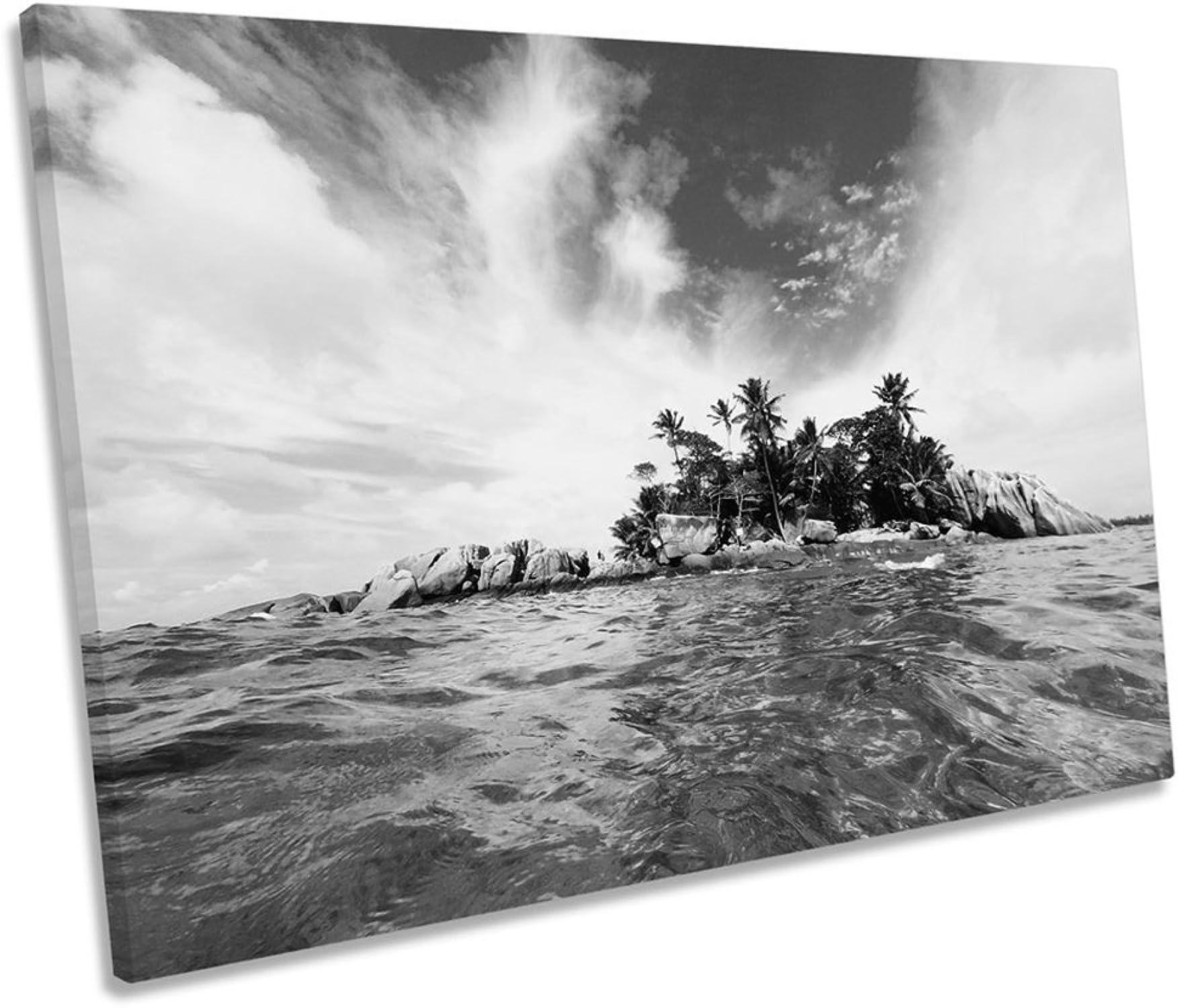 gran venta Canvas Geeks WTD - Lienzo Decorativo para Parojo, diseo diseo diseo de Playa de la Isla del Desierto, 60cm Wide x 40cm High  oferta de tienda