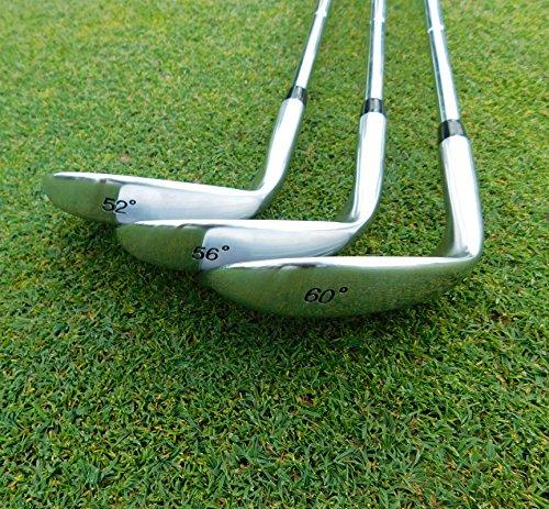 LAZRUS Premium FORGED Golf Wedges Set For Men - 52 56 60 Degree
