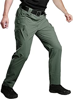 Sponsored Ad - Susclude Men's Outdoor Work Quick Dry Military Tactical Pants Slim Fit Hiking Pants Mens Lightweight Cargo ...