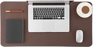 بساط مكتبي متعدد الوظائف - بساط لطاولة المكتب ولوحة ماوس - واقي مكتب بسطح أملس ناعم وسهل التنظيف ومقاوم للماء من جلد البول...