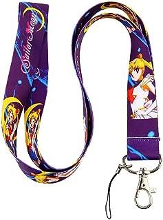 Sailor Moon Purple Keychain Holder Lanyard