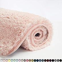 Suchtale Bath Rug for Bathroom Non Slip Bathroom Mat (20 x 32, Blush) Water Absorbent Soft Microfiber Shaggy Bathroom Rug ...