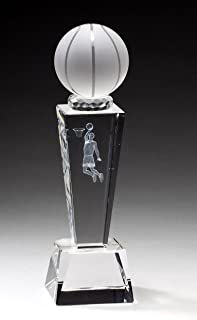 Crystal Basketball Trophy with Free Engraving (Customize Now!)