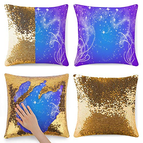 Glitter Sparkles - Funda de almohada con purpurina dorada