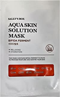 Sally's Box Aqua Skin Solution Mask - Bifida Ferment - Relaxing & Hydration - 10 Masks in Total