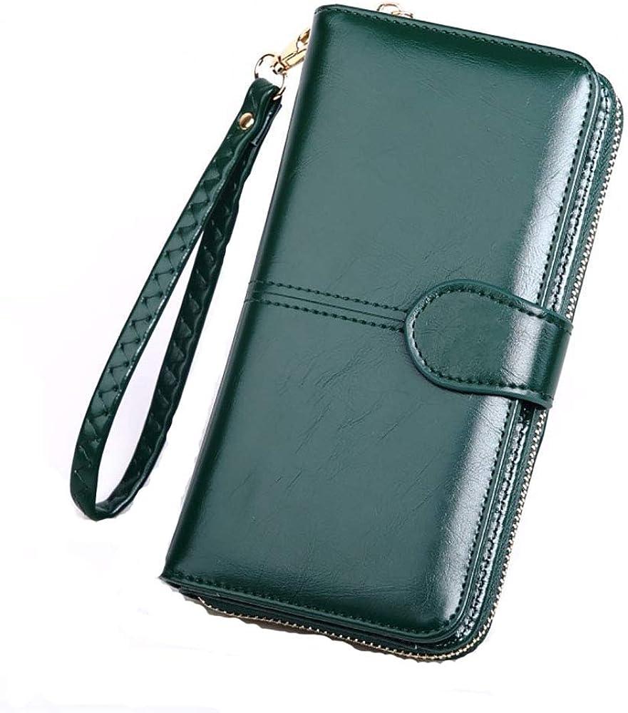 Tobe-u, portafoglio, porta carte di credito e portamonete, in pelle , per donna SS28000-Style 2-GreenJP