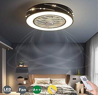 Ventilateur De Plafond Avec Lumière Ventilateur Créatif Invisible Avec Télécommande Gradable Ultra Silencieux Ventilateur ...