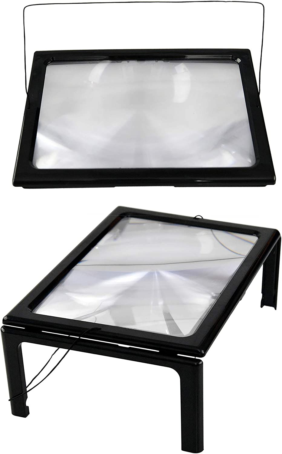 Topics on TV HOME-X Illuminated Magnifying Reader with Legs and Max 68% OFF Neck Standing