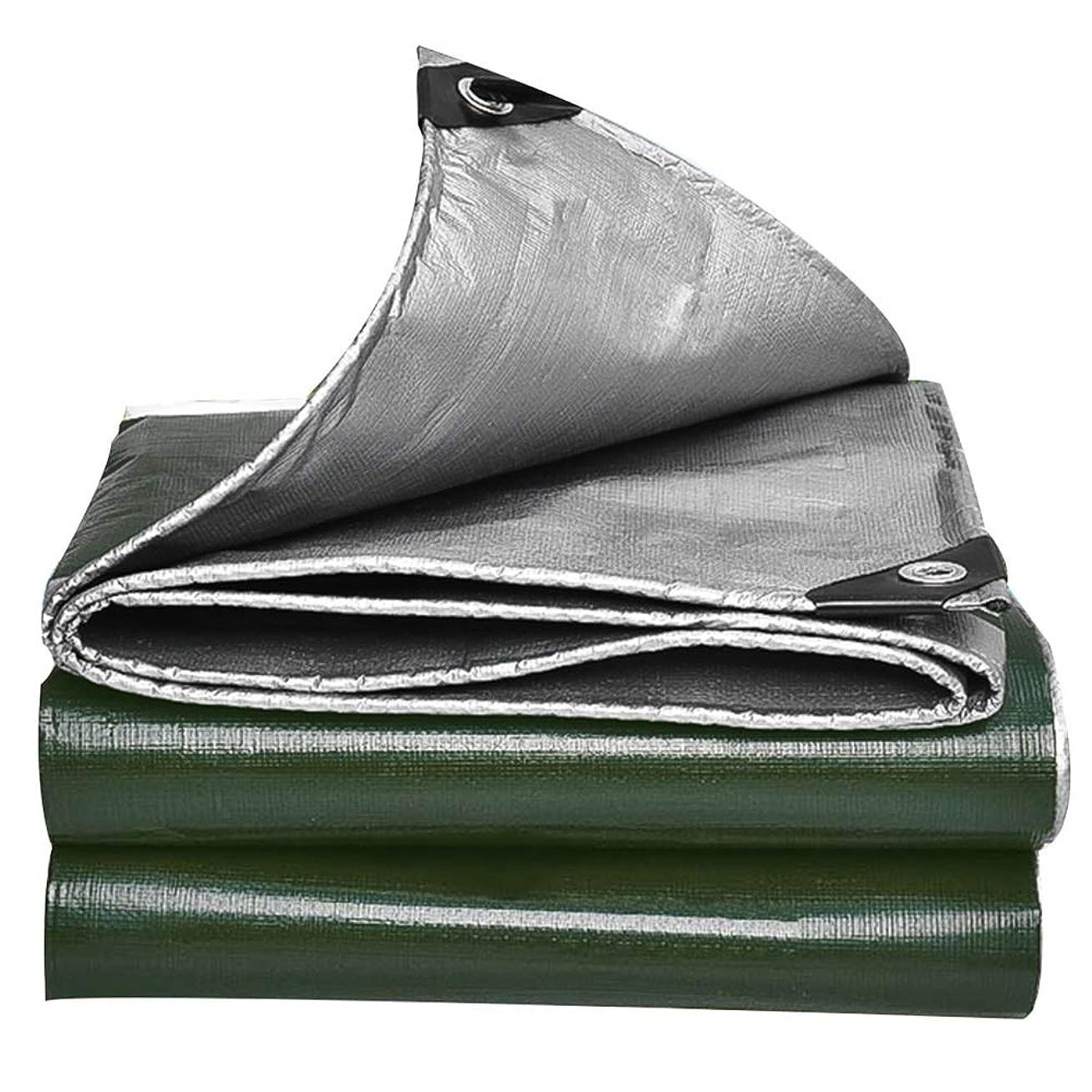 回転共同選択幸運なFQJYNLY ターポリンタープ防水シート防風保持温度鉱山倉庫アウトドア、ポリエチレン、15サイズ (Color : Green, Size : 3.8x4.8m)
