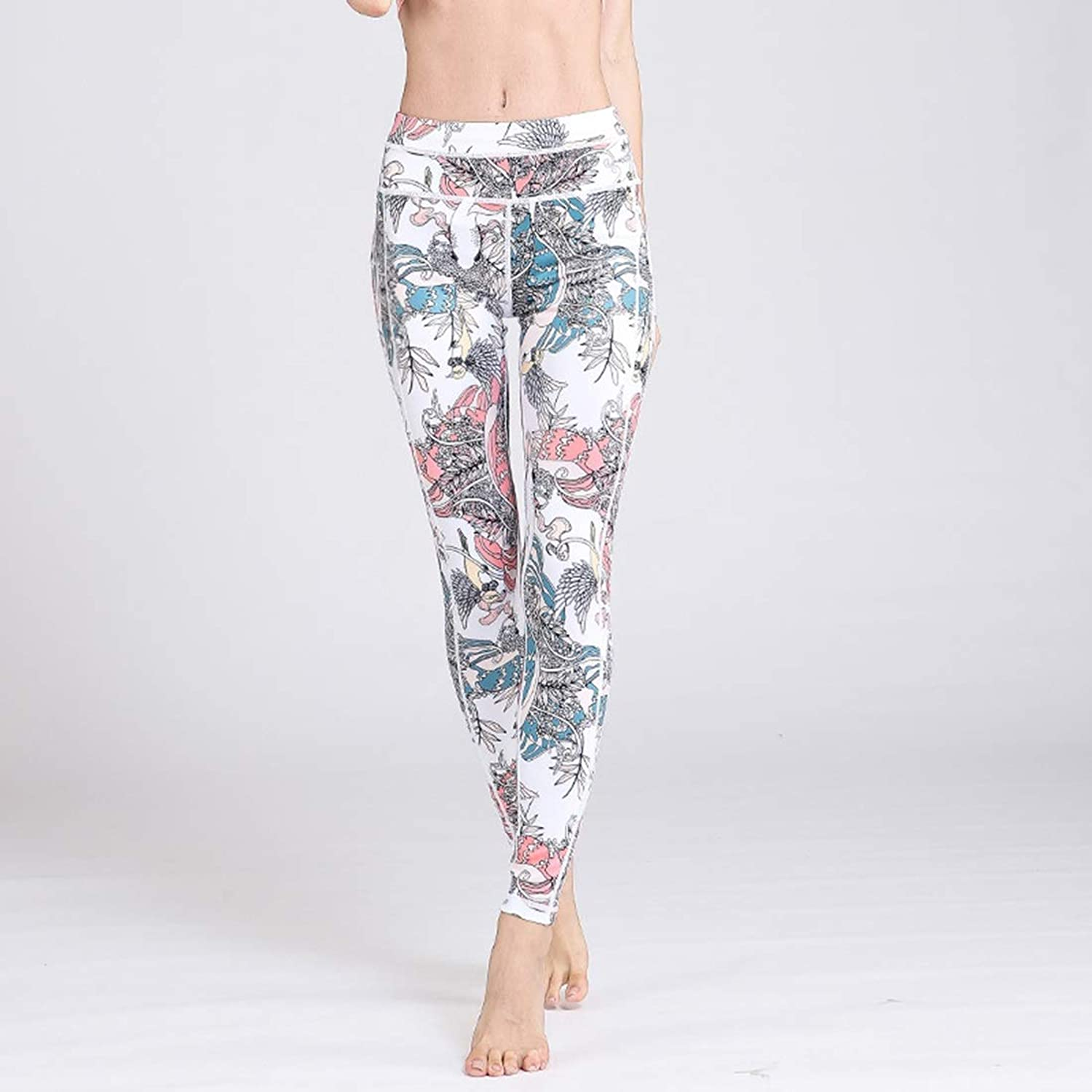 Huayue Yoga Pants Europe and The United States Unmixed Movement was Tenuous Trousers High Elastic Running Fitness Clothes Female Leggings