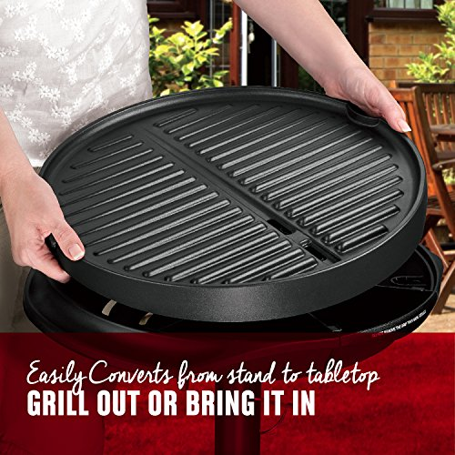 George Foreman 12+ Servings Upto 15 Indoor/Outdoor Electric Grill, Silver, GGR50B