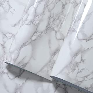Vinyl Marble Granite Contact Paper Self Adhesive Wallpaper 17.7 x 118inch Furniture Counter Stick Waterproof Removable Pee...