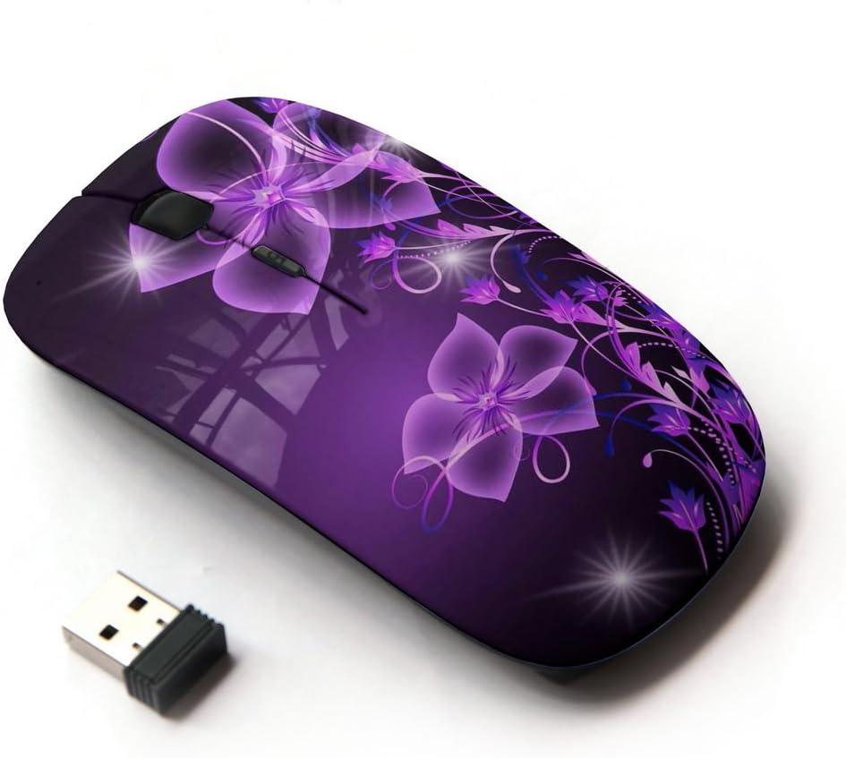 KawaiiMouse [ Optical 2.4G Wireless Mouse ] Purple Black Bling Glitter